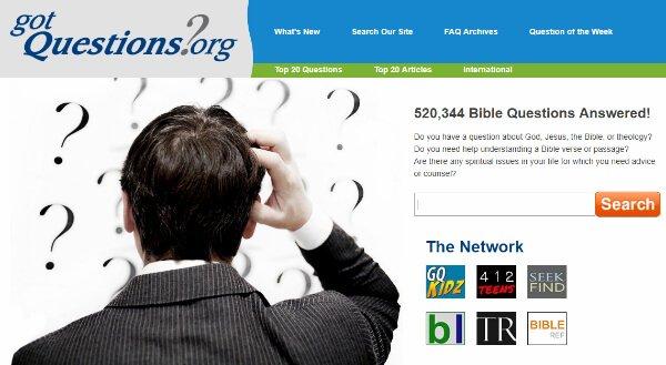Screenshot of gotquestions.org
