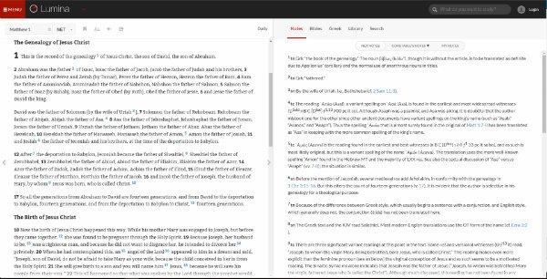 Screenshot of Lumina Bible Study Suite